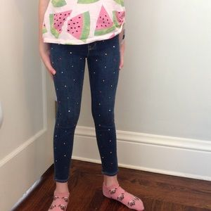"""BNWT Legging Jeans with Multicolor """"Jewels/stones"""""""